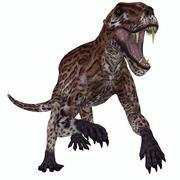 A fierce Lycaenops roaring. Stock Illustration