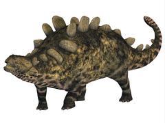 Crichtonsaurus armored dinosaur. - stock illustration