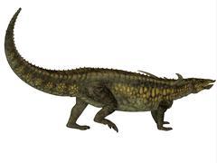 Desmatosuchus armored dinosaur. - stock illustration