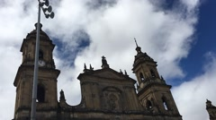 Timelapse Top of Prima Catedral Bogota Colombia Stock Footage