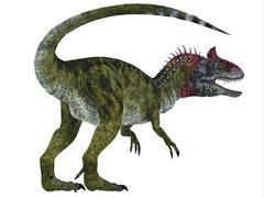 Cryolophosaurus dinosaur, white background. Stock Illustration