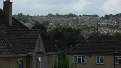 City of Bath: panoramic view from the hill Stock Footage