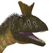 Cryolophosaurus dinosaur head. Stock Illustration