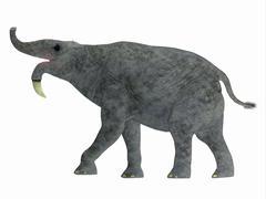Deinotherium mammal, side view. Stock Illustration