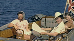 USA 1940: people during a boat trip Stock Footage