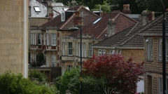 Beautiful suburbs of the City of Bath Stock Footage