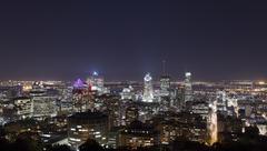 Montreal twilight after sunset Kuvituskuvat