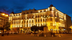 View of the famous Gerbeaud House in Budapest Stock Footage