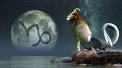 Capricorn is the tenth astrological sign of the Zodiac. Stock Illustration