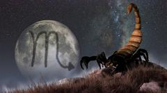 Scorpio is the eighth astrological sign of the Zodiac. Stock Illustration
