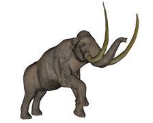 Large mammoth, white background. Stock Illustration