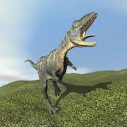 Aucasaurus dinosaur bellows a loud roar. Stock Illustration