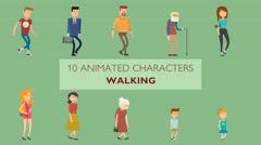 10 Walking Characters Kuvapankki erikoistehosteet