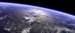 Artist's concept of a terrestrial planet. - stock illustration