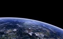 Orbitshot of an extraterrestrial planet. - stock illustration