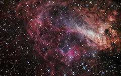 The Omega Nebula - stock photo