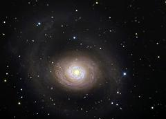 Messier 94, spiral galaxy in the constellation Canes Venatici. - stock photo