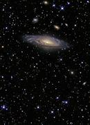 NGC 7331 is a spiral galaxy in the constellation Pegasus. - stock photo