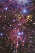 A stellar nursery located towards the constellation of Monoceros. Stock Photos
