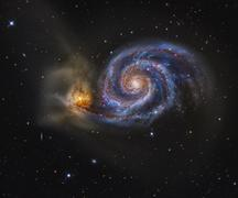 Whirlpool Galaxy Stock Photos