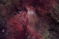 NGC 6188 is an emission nebula in Ara. Stock Photos