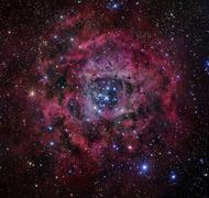 The Rosette Nebula - stock photo