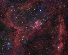 IC 1805 in Cassiopeia - stock photo