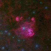 IC 2944, a large H II region in the constellation of Centaurus. Stock Photos