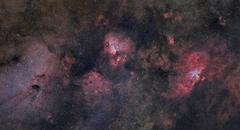 Panorama near the Sagittarius region of our Milky Way galaxy. Stock Photos