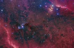 Widefield view in the Orion constellation. - stock photo
