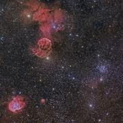 Beautiful Nebulae in Gemini Constellation. - stock photo