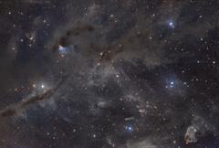 Beautiful dusty nebulae of Taurus - stock photo