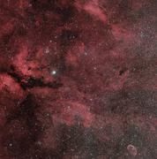 The Sadr region with the Crescent Nebula. Stock Photos