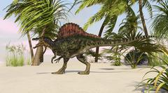 Spinosaurus hunting for food. Stock Illustration