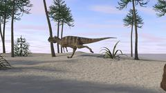 Ceratosaurus hunting for its next meal. Stock Illustration