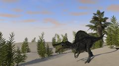 Spinosaurus hunting for its next meal. Stock Illustration