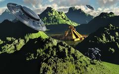 The legendary South American golden city of El Dorado in the summer. Stock Illustration