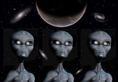 Grey Alien clones. Stock Illustration