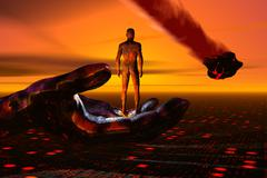 The beginning and end of humanity. Stock Illustration
