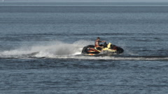 Jet Ski On The Lake 1 Stock Footage