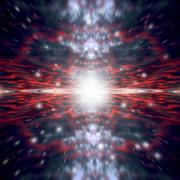 An artist's depiction of the Big Bang that created space and time. Stock Illustration