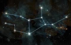 An artist's depiction of the constellation Virgo the Virgin. Stock Illustration