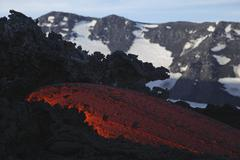 Mount Etna lava flow, Sicily, Italy. Kuvituskuvat