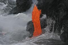 Kilauea lava flow sea entry, Big Island, Hawaii. Kuvituskuvat