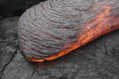 Kilauea Pahoehoe lava flow, Big Island, Hawaii. Kuvituskuvat