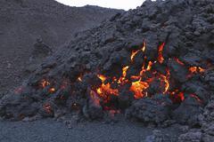 Fimmvorduhals lava flow, Eyjafjallajokull, Iceland. Kuvituskuvat