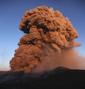 Eyjafjallajokull eruption, Summit crater, Iceland. Stock Photos