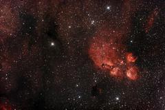 Cat's Paw Nebula in Scorpius Stock Photos