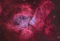 NGC 3372, The Eta Carinae Nebula. - stock photo