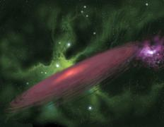 Protostellar Disk Stock Illustration